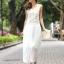ชุดราตรียาว Brand Mei Na ชุดเดรสยาวแขนกุด ตัวเสื้อผ้าโปร่งสีน้ำตาล แต่งด้วยดิ้นสีขาว ตัวกระโปรงผ้าชีฟองสีขาว สวยมากๆครับ (พร้อมส่ง) thumbnail 1