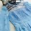 ชุดเดรสผ้าไหมแก้ว organza ปักด้วยด้ายลายดอกไม้ สีฟ้า สวยมากๆ thumbnail 8