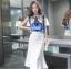 เสื้อผ้าแฟชั่นเกาหลี set เสื้อและกระโปรง สวยเก๋ thumbnail 4