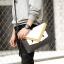 Pre-order กระเป๋าคลัทซ์ผู้ชาย ใส่ tab ipad 10 นิ้ว มอนสเตอร์คลัทช์แฟชั่นเกาหลี Man-8682-3 สีเหลือง ตาคู่ thumbnail 2