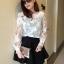 เสื้อผ้าแฟชั่น สุด Chic เสื้อแฟชั่นแขนยาว เสื้อผ้าแก้ว ลายดอก รหัส MN9006 thumbnail 1