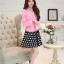 แฟชั่นเกาหลี set เสื้อสูท สีชมพู และกระโปรง สวยมากๆ thumbnail 7