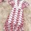ชุดเดรสยาว ผ้าลูกไม้ถักพื้นสีขาว ลายดอกไม้สีแดง หน้าอกคาดด้วยผ้าถักโครเชต์สีขาว thumbnail 8