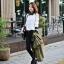 เสื้อทำงาน เสื้อเกาหลี เสื้อแขนยาว ปกและปลายแขนสีดำจุดสีขาว กระดุมหน้า ผ้าชีฟอง สีขาว สวยมากๆ (พร้อมส่ง) thumbnail 3