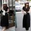 MAXI DRESS ชุดเดรสยาวราคาถูก แฟชั่นเกาหลี ผ้า COTTON มีสายผูกเย็บติดในตัว สีดำ ใส่ทำงาน เที่ยว น่ารักมากๆ ครับ thaishoponline (พร้อมส่ง) thumbnail 5