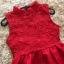 ชุดเดรสสีแดง แขนกุด ตัวเสื้อผ้าถักโครเชต์ลายดอกไม้ คอจีน thumbnail 7
