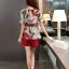 แฟชั่นเกาหลี set เสื้อและกางเกงขาสั้น สวยน่ารักมากๆ thumbnail 5