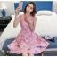 ชุดเดรสสวยๆ แขนกุด ตัววัสดุผ้าพิเศษมากๆ เป็นผ้าไหมแก้ว organza สีขาว thumbnail 4