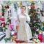 ชุดเดรสสไตล์เจ้าหญิง ผ้าลูกไม้ปักลายสีขาว งานปักละเอียดสวยมากๆ thumbnail 3
