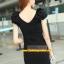 Pre-Order ชุดราตรีสั้น ชุดเดรสสั้น Brand Fu daiyi คอวี สีแดง-สีดำ แขนกุด ผ้าโพลีเอสเตอร์ ยืดหยุ่นดี ไม่ยับง่ายไม่ต้องรีด สวยมากๆ สินค้าเกรด A thumbnail 8