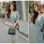 แฟชั่นเกาหลี set เสื้อและกระโปรงสวยมากๆ ผ้าโพลีเอสเตอร์ผสมสีฟ้า เสื้อไหล่บ่าล้ำ คอวี thumbnail 8