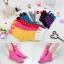 A033**พร้อมส่ง** (ปลีก+ส่ง)ถุงเท้าแฟชั่นเกาหลี โบว์ลายจุด ข้อสูง มี 8 สี ดำ เทา ฟ้า แดง ม่วง เหลือง ชมพู ขาว เนื้อดี งานนำเข้า (Made in Korea) thumbnail 1