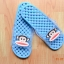 K011-SBL **พร้อมส่ง** (ปลีก+ส่ง) รองเท้านวดสปา เพื่อสุขภาพ ปุ่มเล็ก ลิง Pual Frank สีฟ้า ส่งคู่ละ 150 บ. thumbnail 3