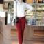 เสื้อแฟชั่น เสื้อเกาหลี เสื้อทำงาน ด้านหน้าเป็นผ้าลูกไม้ คอกลม เสื้อเป็นผ้ามัน ประดับพลอยที่คอ ซิปหลังครึ่งตัว เสื้อสีขาว สวยมากๆ (พร้อมส่ง) thumbnail 3