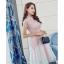 ชุดเดรสสวยๆ ตัวเสื้อผ้าลูกไม้เนื้อดีสีชมพู ชายเสื้อเฉียงเหมือนแบบ thumbnail 4
