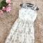 ชุดเดรสยาว ผ้าลูกไม้ปัก เกรดพรีเมี่ยม ผ้าลูกไม้ปักลายดอกไม้โทนสีขาว และสีครีมทองอ่อนๆ thumbnail 16