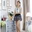 เสื้อผ้าแฟชั่น set 2 ชิ้น เสื้อ+กางเกง และเข็มกลัดดอกไม้ แฟชั่นเกาหลีสวยๆ ครับ thumbnail 6