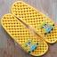 K011-DYL **พร้อมส่ง** (ปลีก+ส่ง) รองเท้านวดสปา เพื่อสุขภาพ ปุ่มเล็ก ลายมินเนี่ยน สีเหลือง thumbnail 2