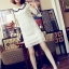 DRESS ชุดเดรสแฟชั่นผ้าลูกไม้ สีเบจ คอตุ๊กตาเกาหลี ใส่ทำงาน สามารถใส่ออกงานได้ น่ารักมากๆ ครับ (พร้อมส่ง) thumbnail 3