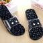 K020-ฺDBL **พร้อมส่ง** (ปลีก+ส่ง) รองเท้านวดสปา เพื่อสุขภาพ ปุ่มใหญ่สลับเล็ก (การ์ตูน) สีกรมท่า ส่งคู่ละ 150 บ. thumbnail 1