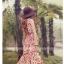 แมกซี่เดรสราคาถูก ผ้าชีฟองเนื้อดี พื้นสีแดง พิมพ์ลายดอกไม้สีขาวครีม แขนกุด คอกลม จั๊มช่วงเอว thumbnail 3