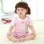 เสื้อผ้าเด็กทารก เพศหญิง 0-1-2 ปี ราคาส่งจากโรงงาน ชุด Coverall Romper เสื้อแขนสั้น รหัส Q1316 สีชมพูลาย 1 ชุด ไซร์ 100 (ส่วนสูง 80-90 cm ) thumbnail 2