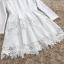 ชุดเดรสสวยๆ ผ้าคอตตอนผสมทอเนื้อดี พื้นสีขาว แขนยาว thumbnail 9