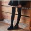 ถุงเท้ายาวเหนือเข่า สีดำเรียบ thumbnail 1