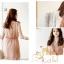 เสื้อผ้าแฟชั่น CHU VIVI DRESS ชุดเดรสแฟชั่นเกาหลี ใส่ทำงาน คอวี แขนกุด ผ้าชีฟอง สีชมพู แต่งกระโปรง 2 ชั้น จั๊มเอว น่ารัก สามารถใส่ออกงานได้ thaishoponline (พร้อมส่ง) thumbnail 2