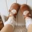 [พิเศษ 2 คู่ 150 บาท]ถุงเท้าลูกไม้ลายวินเทจ-ดอกไม้สีหวาน thumbnail 1