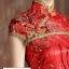 Pre-Order ชุดกี่เพ้าสวยๆ ชุดไปงานแต่งงาน สีแดงเลื่อมทอง แขนสั้น ผ้าเนื้อดีเกรด A อย่างดี เหมาะใส่เป็นชุดออกงาน ชุดไปงานแต่งงานมากๆ thumbnail 5