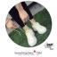 รองเท้าผ้าใบ Fashion แต่งรูปยิ้มตรงลิ้นรองเท้าและด้านหลัง เก๋ๆ thumbnail 6
