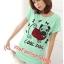 เสื้อยืดแฟชั่น ผ้านุ่ม ลาย Cool Dog (Size M:36 นิ้ว) สีเขียวมินท์ thumbnail 1