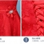 ชุดราตรีสั้น ออกงานสุดหรู ตัวเสื้อผ้าลูกไม้เนื้อดีสีแดง เปิดไหล่ thumbnail 6