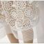 ชุดเดรสสวยๆ ผ้าลูกไม้ถักโครเชต์ สีขาว ช่วงหน้าอก แขนเสื้อ และกระโปรงเป็นผ้าถักโครเชต์รูปดอกไม้ thumbnail 10