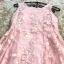 ชุดเดรสผ้าลูกไม้ ปักลายดอกไม้ปักสีชมพูโอรส แขนกุด เดรสเข้ารูปช่วงเอว thumbnail 11