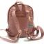 กระเป๋าเป้หนังPU นิ่มแต่งอะไหล่ซิปเหล็กสีทองสไตล์เกาหลี thumbnail 4
