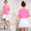เสื้อชีฟอง สีชมพู แฟชั่นเกาหลีน่ารักสดใส ใส่สบายตัว thumbnail 4