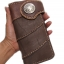 กระเป๋าสตางค์แฟชั่น หนังแท้ สุดเทห์ มีหูปิดประดับด้วยกระดุมสีเงิน สำหรับบุรุษและสตรี thumbnail 4