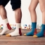 S306 **พร้อมส่ง**(ปลีก+ส่ง) ถุงเท้าข้อยาว แฟชั่นเกาหลี มี 12 คู่ต่อแพ็ค พร้อมกล่อง เนื้อดี งานนำเข้า(Made in China) thumbnail 4