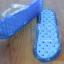 K015-SBL**พร้อมส่ง** (ปลีก+ส่ง) รองเท้านวดสปา เพื่อสุขภาพ ปุ่มใหญ่แบบนิ่ม สีฟ้า ถอดพื้นทำความสะอาดได้ ส่งคู่ละ 180 บ. thumbnail 3