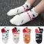 A038**พร้อมส่ง**(ปลีก+ส่ง) ถุงเท้าแฟชั่นเกาหลี ข้อสั้นมีหู มี 5 สี ขาว ครีม แทน ดำ เทา เนื้อดี งานนำเข้า( Made in Korea) thumbnail 1