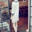 DRESS ชุดเดรสแฟชั่นผ้าลูกไม้ สีเบจ คอตุ๊กตาเกาหลี ใส่ทำงาน สามารถใส่ออกงานได้ น่ารักมากๆ ครับ (พร้อมส่ง) thumbnail 4