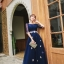 ชุดราตรียาว ออกงาน ตัวเสื้อผ้าลูกไม้สีน้ำเงิน แขนยาวสามส่วน ด้านนอกของเสื้อผ้าลูกไม้ thumbnail 3
