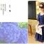 ชุดเดรสน่ารัก ผ้าชีฟองชนิดเนื้อทราย สีน้ำเงิน thumbnail 7