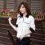 เสื้อทำงาน เสื้อแฟชั่น เสื้อเกาหลี เสื้อแขนยาว คอปก กระดุมหน้า กระเป๋าหน้า เสื้อสีขาว สวยมากๆ (พร้อมส่ง) thumbnail 3