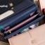 พร้อมส่ง B-1602 สี้น้ำเงิน กระเป๋าสตางค์ยาวหนัง PU นิ่มแต่งโลโก้ CG thumbnail 3
