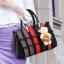 Pre-order กระเป๋าผู้หญิงถือและสะพายข้างแฟชั่นสไตล์ยุโรป ลายรั้วถัก รหัส Yi-5106 สีดำคละสี *แถมตุ๊กตาหมี thumbnail 1