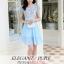 ชุดเดรสสวยๆ ตัวเสื้อผ้าลูกไม้ ปักสีฟ้า พิมพ์ลายดอกกุหลาบ thumbnail 3
