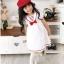 U041**พร้อมส่ง** (ปลีก+ส่ง) ถุงเท้าแฟชั่น เด็กหญิง ข้อยาว แต่งลูกไม้ เนื้อดี งานนำเข้า ( Made in China) thumbnail 7